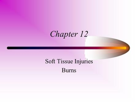 Soft Tissue Injuries Burns