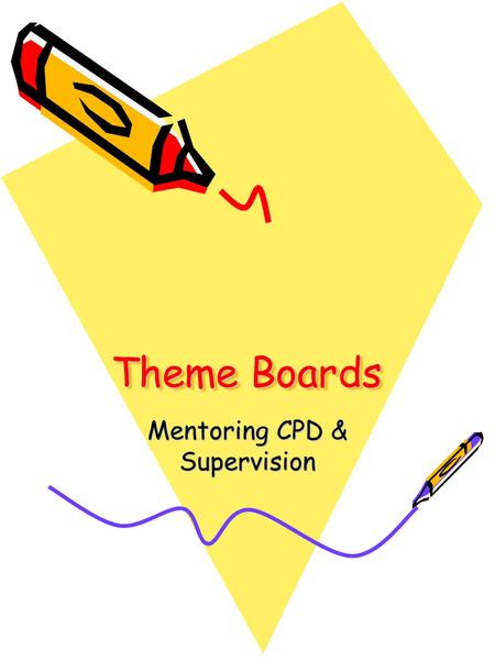 Theme Boards Mentoring CPD & Supervision. Theoretical Underpinnings Psychoanalytical approach –Jung was a student of Freud Focused on understanding the.