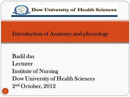 Introduction of Anatomy and physiology