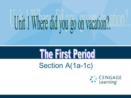 Section A(1a-1c). Aims and language points: Teaching aims (教学目标) 1 .学会谈论自己和他人过去发生的事情和活动。 2 . 能够熟练的运用本节课出现的动词短语。 Language points ( 语言点 ) 1. 词汇: 动词词组(过去式形式):