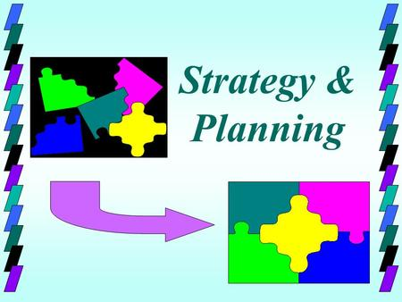 Strategy & Planning. Mission Goals Strategies External Analysis Opportunities Threats Internal Analysis Strengths Weaknesses Human Resource Needs Knowledge,