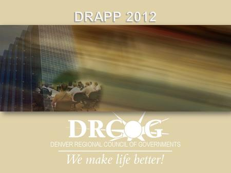  Introductions  Brief Overview of DRAPP 2012  Letters of Intent  Recap of the Vendor Selection Process  Imagery Acquisition Presentation - (Kucera.