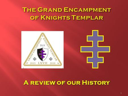A review of our History 1. 2  Origin traces back to the Crusades  Organized by Hugh de Payen in 1118  Recognized and sanctioned by Baldwin II, King.