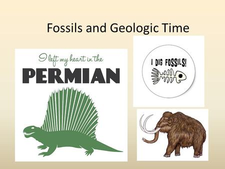 Fossils and Geologic Time. What fossils are NOT… My doctor says I'm in the early stages of fossilization!