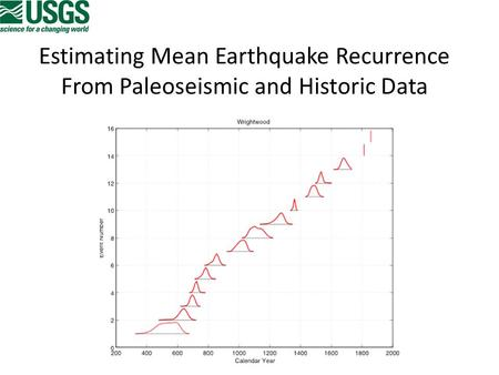 Estimating Mean Earthquake Recurrence From Paleoseismic and Historic Data.
