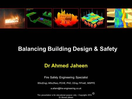 This presentation is for educational purpose only – Copyrights 2014 © Dr Ahmed Jaheen.