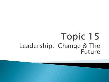 Leadership: Change & The Future. ~David B. Peterson and Mary Dee Hicks, Personnel Decisions International.