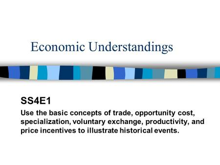 Economic Understandings