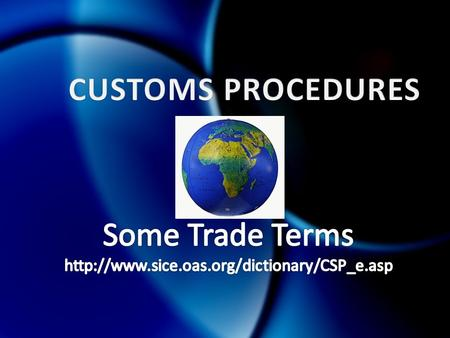 TERMDEFINITION Code of conductThe collection of rules applicable to customs officers regarding conduct, conflict of interest and possible sanctions and.