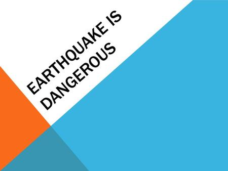 EARTHQUAKE IS DANGEROUS. COMPLETE THE SENTENCES The hurricane was a terrible …. A … disaster happened to the citizens of the city. The disaster … is far.