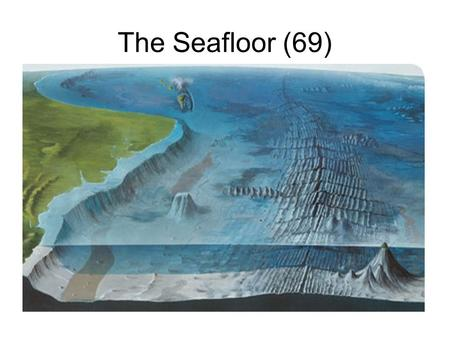 The Seafloor (69). Contiental Shelf Ocean basins, which are low areas of Earth that are filled with water, have many different features. The continental.