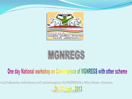 One day National workshop on Convergence of MGNREGS with other scheme