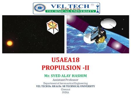 VEL TECH Dr. RR & Dr. SR TECHNICAL UNIVERSITY