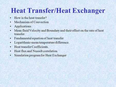 Chapter 2 Introduction to Heat Transfer - ppt download