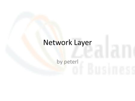 Network Layer by peterl. forwarding table routing protocols path selection RIP, OSPF, BGP IP protocol addressing conventions datagram format packet handling.