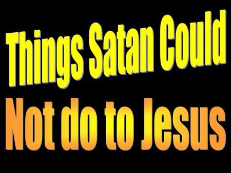 Introduction Last week we gave many warnings about the devices of the devil (doubting, blaming, deceiving, distracting, discouraging, and delaying man's.