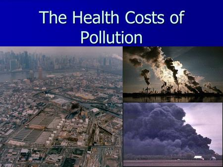 The Health Costs of Pollution. How many chemicals are out there? In the US we introduce 1,000 new chemicals every year. In the US we introduce 1,000 new.