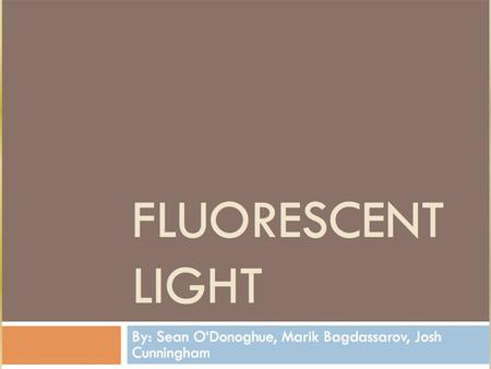 What is it? Fluorescence is the giving off of light by a substance that has absorbed light or other electromagnetic radiation of a different wavelength.