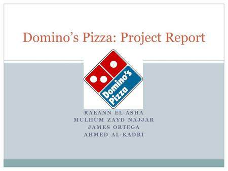 project report on dominos A project report on a study on customer satisfaction towards dominos submitted in partial fulfillment of the requirement of bachelor of business administration (bba) bhagwant institute of technology muzaffarnagar.
