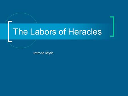 The Labors of Heracles Intro to Myth. Birth Heracles was the son of Zeus and a mortal woman named Alcmena He had a twin brother named Iphicles who was.