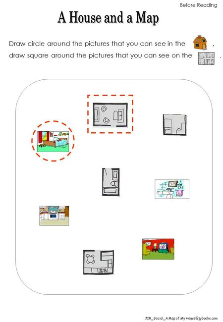 Draw circle around the pictures that you can see in the, draw square around the pictures that you can see on the. JIR_Social_A Map of My