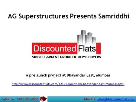 A prelaunch project at Bhayandar East, Mumbai  Call Now : 1-860-266-6000 Mail.