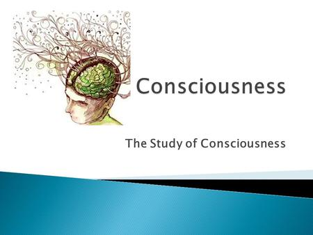 The Study of Consciousness. Psychologists have not always thought that consciousness should be part of the study of psychology. In 1904 William James.