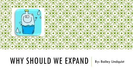 WHY SHOULD WE EXPAND By: Bailey Lindquist. SITUATION  Small basement  Cramped  Slow computers  Takes a long time to put information in  Not enough.