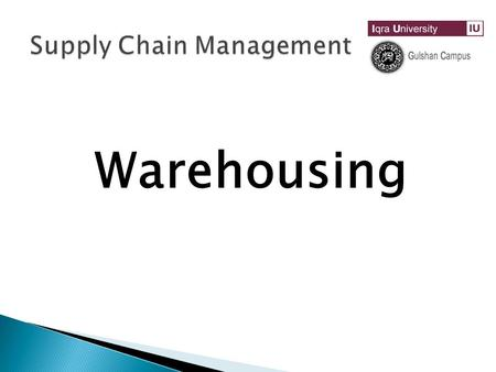 Warehousing. Warehouse A warehouse is a commercial building for storage of goods. Warehouses are used by manufacturers, Wholesalers, retailers, importers,