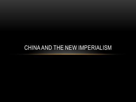CHINA AND THE NEW IMPERIALISM. WARM UP: WK 23 Pg: 161-162 Directions: Using 5-7 sentences answer the following question. How does Elisa Greathed account.