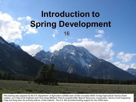 Introduction to Spring Development