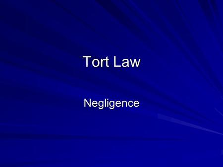 "Tort Law Negligence. Civil Actions What is a civil action? Definition of a civil action: ""A noncriminal lawsuit, brought to enforce a right or redress."
