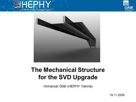 The Mechanical Structure for the SVD Upgrade