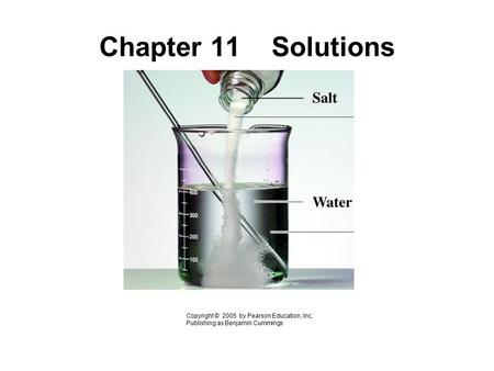Chapter 11 Solutions Copyright © 2005 by Pearson Education, Inc. Publishing as Benjamin Cummings.
