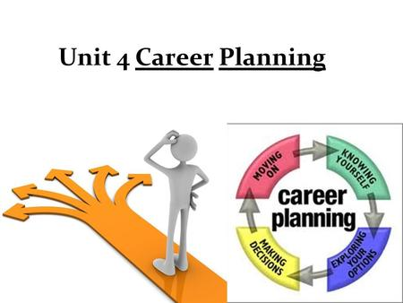 Unit 4 Career Planning. Content Preparation: a full discussion warming up practices, relevant words, common problems, job hunting, career planning… etc.
