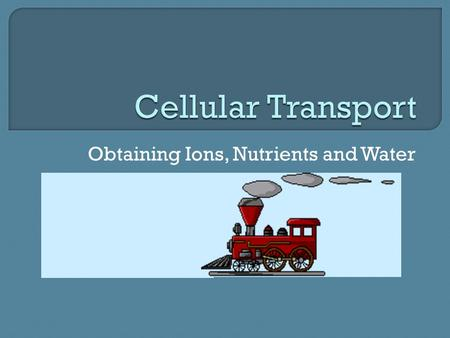 Obtaining Ions, Nutrients and Water.  semipermeable membranes regulate cell interaction with surroundings.