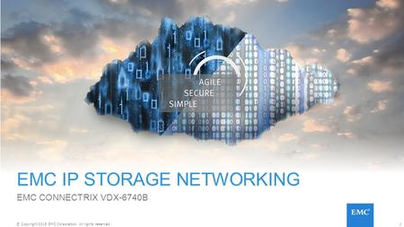 1© Copyright 2015 EMC Corporation. All rights reserved. EMC IP STORAGE NETWORKING EMC CONNECTRIX VDX-6740B.