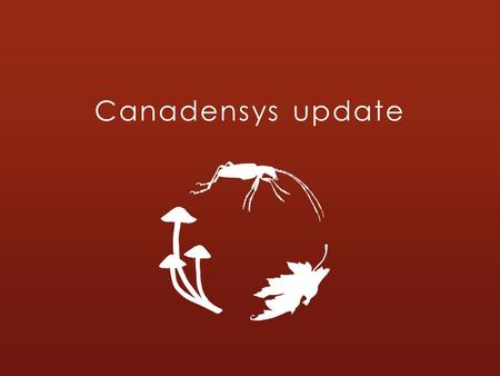 Canadensys update. Canadensys: what is it? A Canadian network of 11 universities, 5 botanical gardens and 2 museums. Over 25 biological collections and.