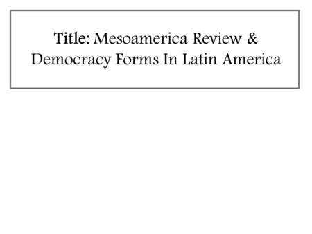Democracy in america essay