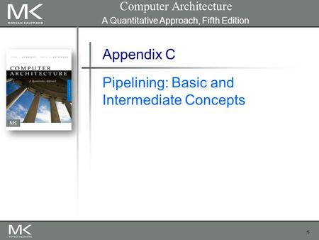 1 Appendix C Pipelining: Basic and Intermediate Concepts Computer Architecture A Quantitative Approach, Fifth Edition.