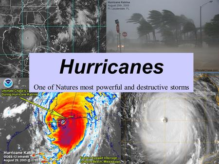 Hurricanes One of Natures most powerful and destructive storms.
