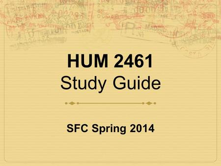 HUM 2461 Study Guide SFC Spring 2014. What is Baroque?  Period of artistic style.  Exaggerated motion. Easily interpreted detail to produce drama, tension,