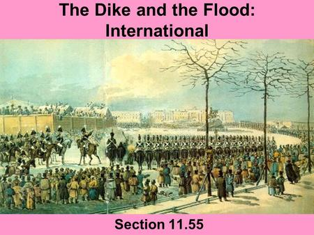 The Dike and the Flood: International Section 11.55.