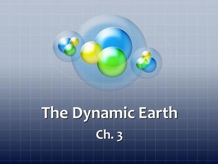 The Dynamic Earth Ch. 3. Sect. 1 Objectives Describe the composition and structure of the Earth. Describe the Earth's tectonic plates. Explain the main.