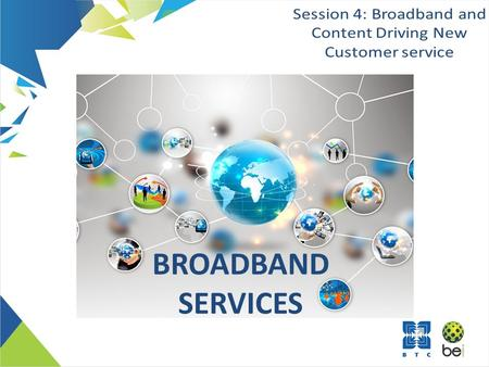 BROADBAND SERVICES. Section 1Background Section 2 Bandwidth Utilization Trend Section 3 Customer Centricity Section 4 Best Value Pricing Section 5 Broadband.