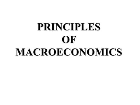 PRINCIPLES OF MACROECONOMICS. 2 3 4 5 Course Outline ProceduresGrades Duties & Responsibilities.