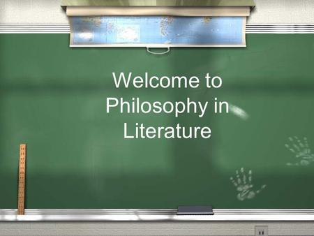 Welcome to Philosophy in Literature. Say hello to an old friend.