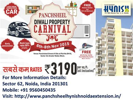" Panchsheel Group is currently going on biggest ""Diwali Property Carnival"" in Noida where the people will get the wide variety of property selection."