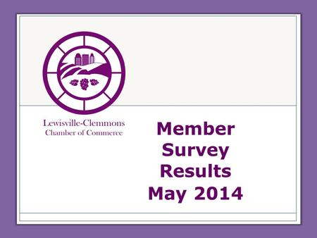 Member Survey Results May 2014. Membership Members Joined January – May 2013= 11 New members in 2013=35 Members Joined January – May 2014= 26 42% increase.