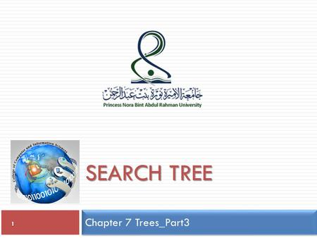 Chapter 7 Trees_Part3 1 SEARCH TREE. Search Trees 2  Two standard search trees:  Binary Search Trees (non-balanced) All items in left sub-tree are less.